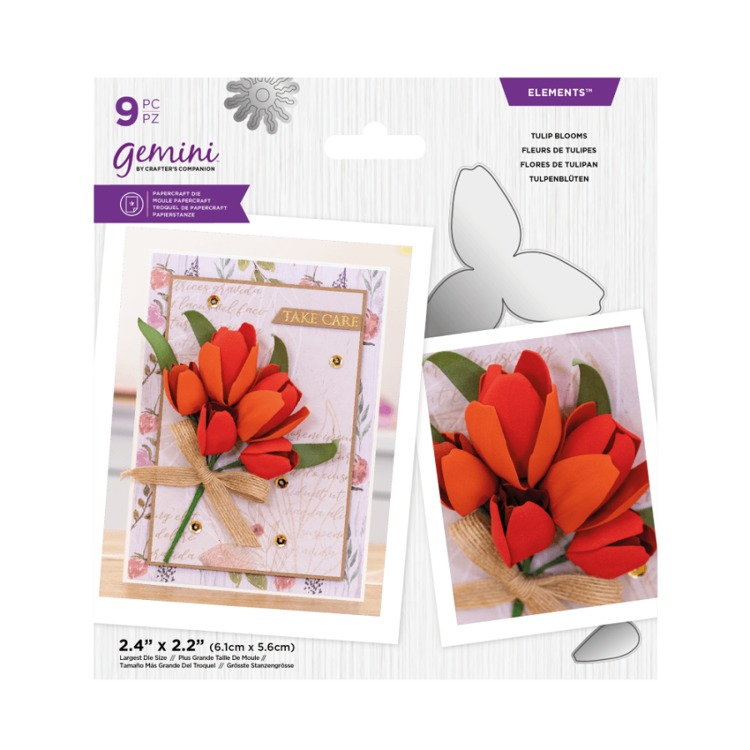 Gemini Elements snijmal - Lente Foam bloemen - Tulip Blooms