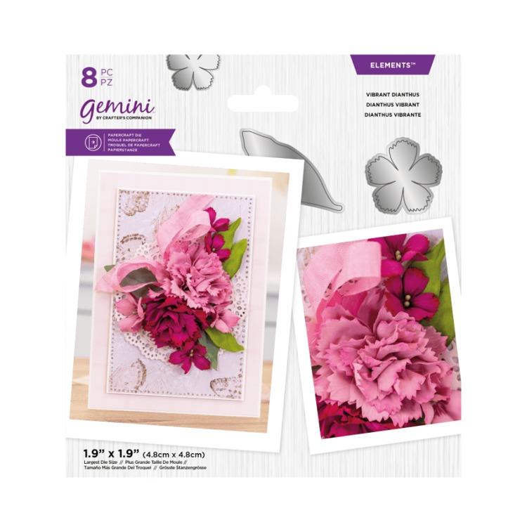 Gemini Elements snijmal - Lente Foam bloemen - Vibrant Dianthus