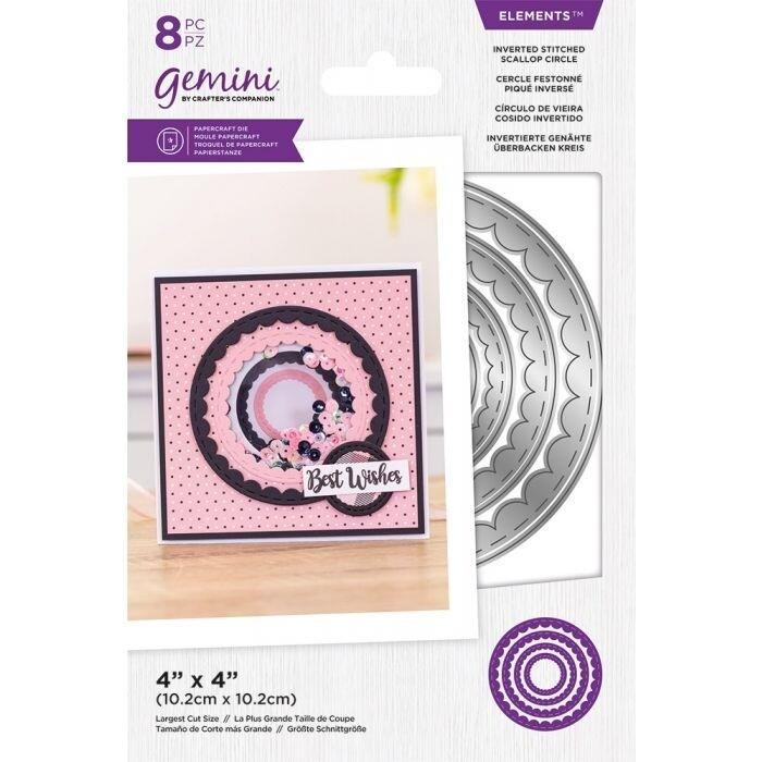 Gemini Elements Nesting snijmallen - Omgekeerde Stitched Scallop Circle