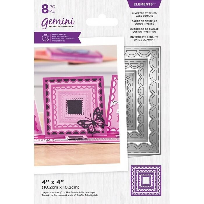Gemini Elements Nesting snijmallen - Omgekeerde Stitched Lace Square