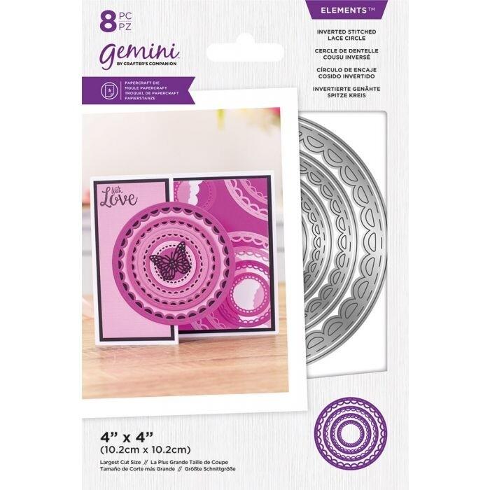Gemini Elements Nesting snijmallen - Omgekeerde Stitched Lace Circle