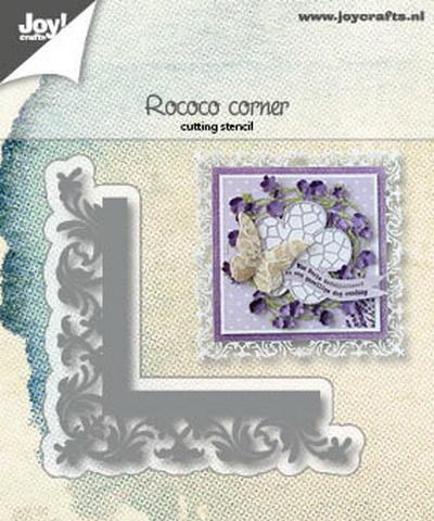 6002/1184 Snijstencil Corner Rococo