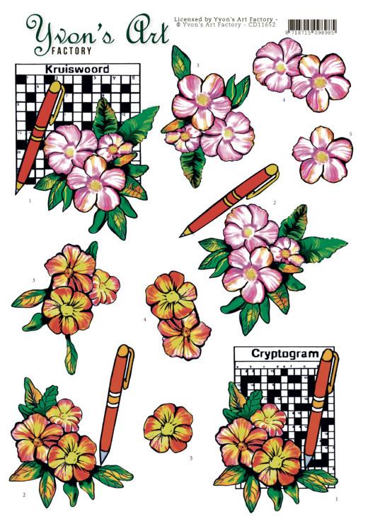 3D Cutting Sheet - Yvon's Art -Crossword Puzzle