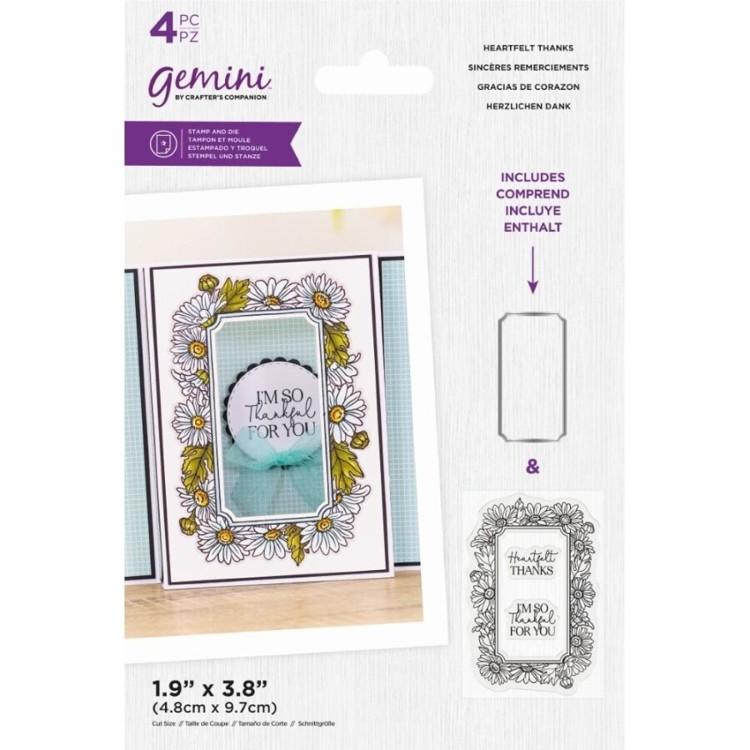 Gemini Clearstamp&snijmal set - Floral Frame - Heartfelt Thanks
