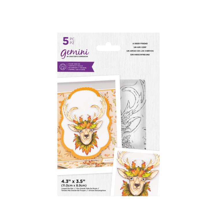 Gemini Clearstamp&snijmal set - Illustrated Amimals - A Deer Friend
