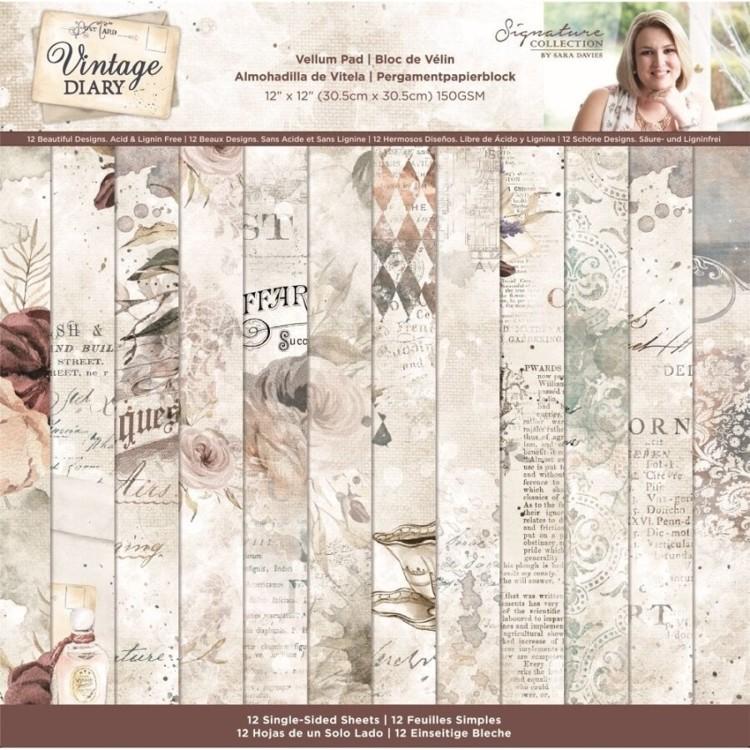 Vintage Diary - Vellumpad 30x30 cm