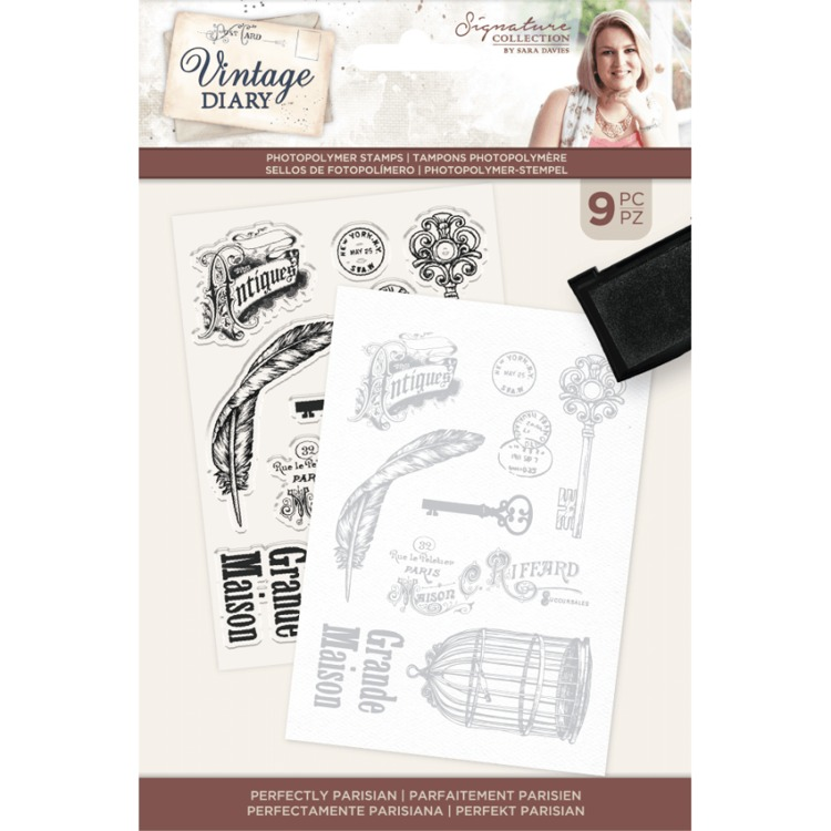 Vintage Diary - Clearstamp - Perfectly Parisian