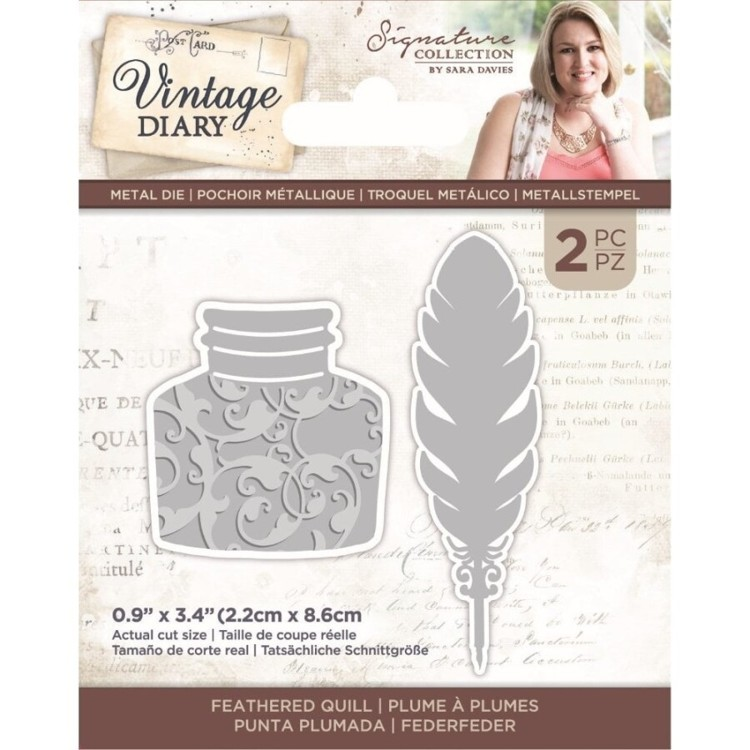 Vintage Diary - Snijmal - Feathered Quill