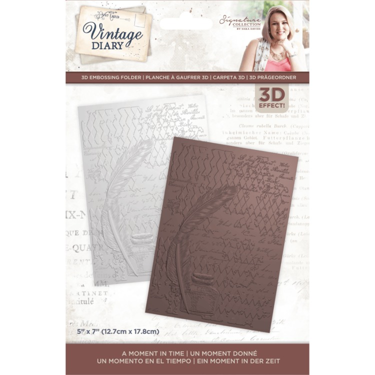 Vintage Diary - 3D Embossing Folder - A Moment In Time