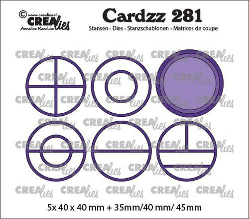 Crealies Cardzz Elements Cirkels CLCZ281 5x 40 x 40 mm (03-21)