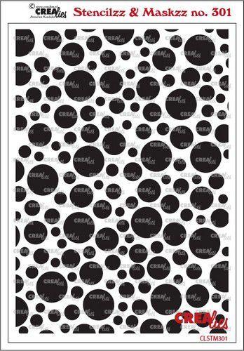 Crealies Stencilzz/Maskzz Cirkels CLSTM301 15 x 21 cm (03-21)