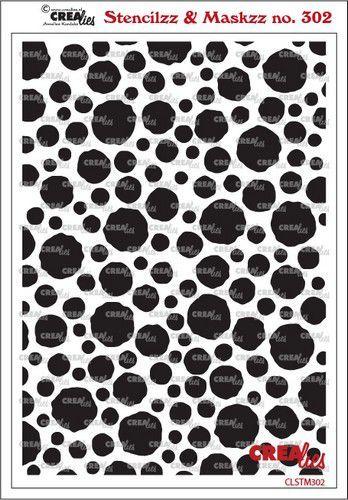 Crealies Stencilzz/Maskzz Cirkels ruwe randen CLSTM302 15 x 21 cm (03-21)