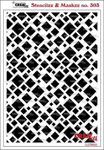 Crealies Stencilzz/Maskzz Vierkanten CLSTM303 15 x 21 cm (03-21)