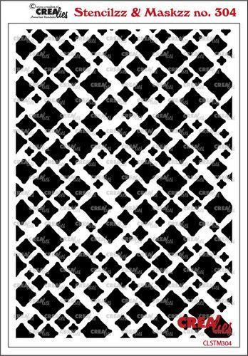 Crealies Stencilzz/Maskzz Vierkanten ruwe randen CLSTM304 15 x 21 cm (03-21)