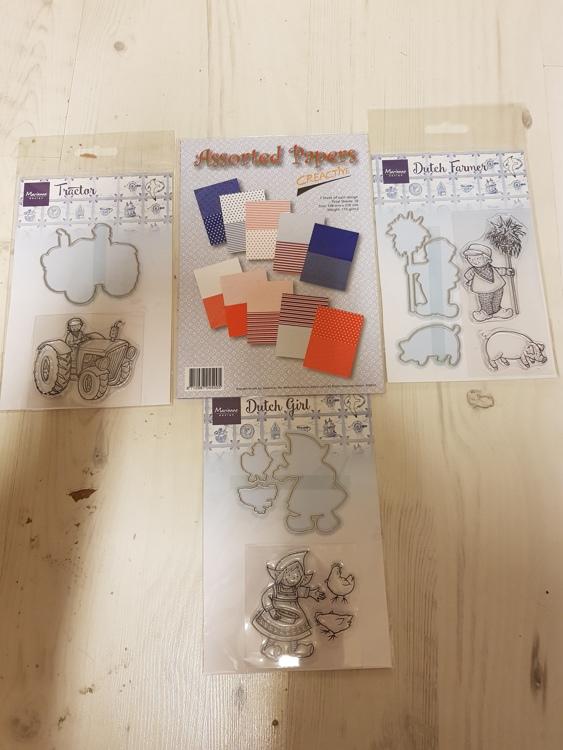 Marianne D Clear Stamps & Dies Hetty's Hollandse boer  set