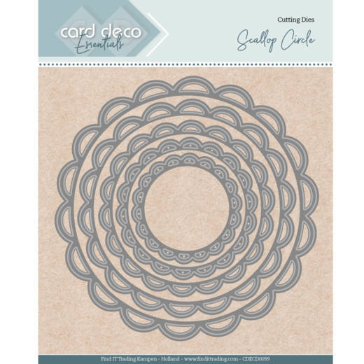 Card Deco Essentials - Nesting Dies - Scallop Circle