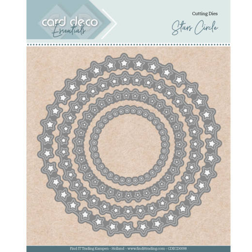 Card Deco Essentials - Nesting Dies - Stars Circle