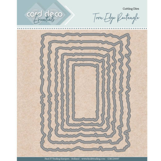 Card Deco Essentials - Nesting Dies - Torn Edge Rectangle