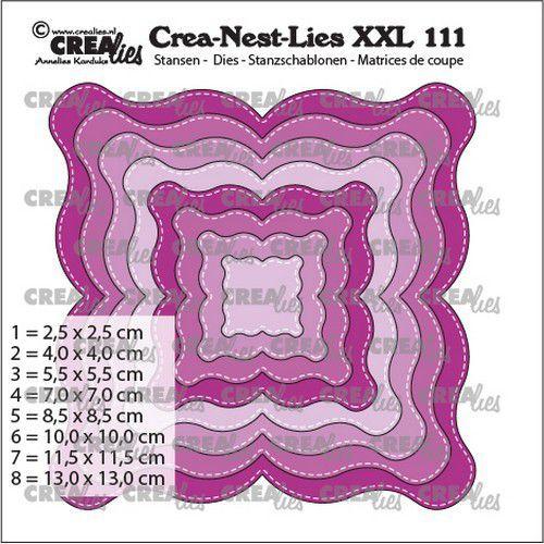 Crealies Crea-nest-dies XXL Fantasievorm E Stiklijn CLNestXXL111 max. 13 x 13 cm (03-21)