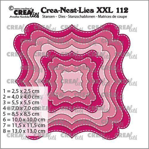 Crealies Crea-nest-dies XXL Fantasievorm F Stiklijn CLNestXXL112 max. 13 x 13 cm (03-21)
