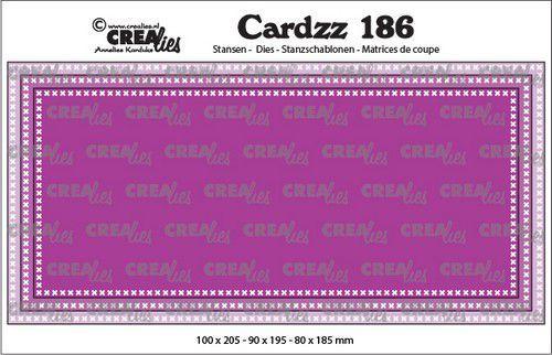 Crealies Cardzz Slimline F Kruissteekjes CLCZ186 max. 10 x 20,5 cm (03-21)