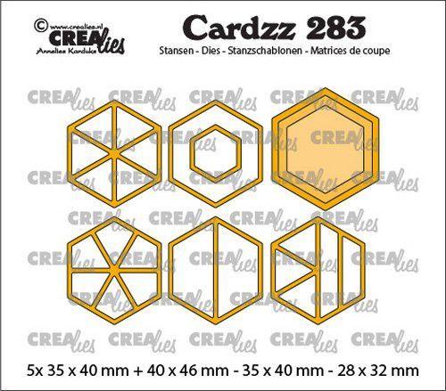 Crealies Cardzz Elements Zeshoeken CLCZ283 5x 35 x 40 mm (03-21)