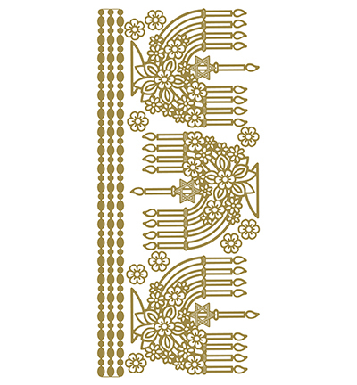 Menorah Gold/Gold