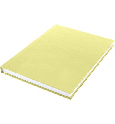 Dummyboek, blanco hard cover, geel pastel