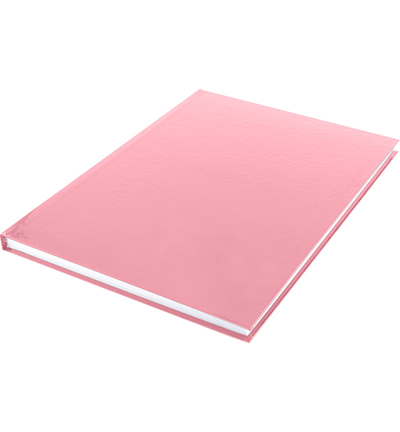 Dummyboek, blanco hard cover, rood pastel