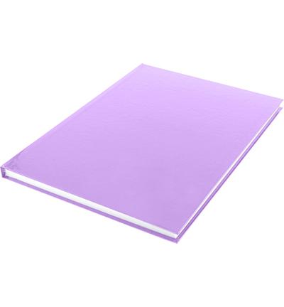 Dummyboek, blanco hard cover, violet pastel