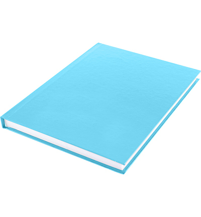 Dummyboek, blanco hard cover, blauw pastel