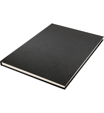 Dummyboek, blanco, zwart linnen kaft