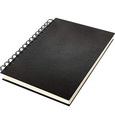 Dummyboek, blanco, wire-o, zwart linnen kaft