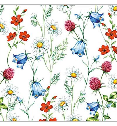 Mixed Wild Flowers White