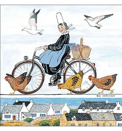 Alsatian On Bike