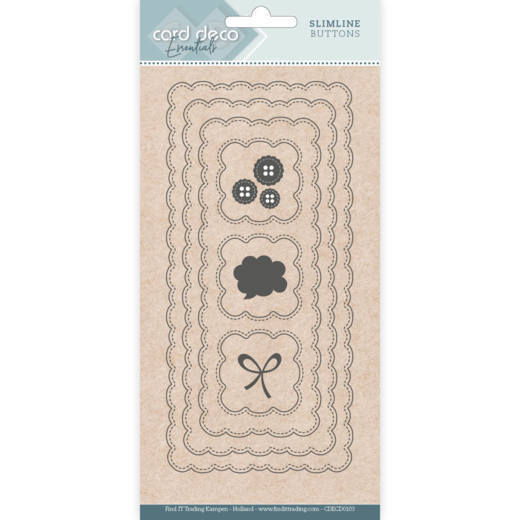 Card Deco Essentials - Slimline Dies - Slimline Buttons