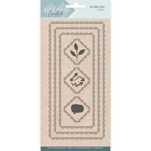 Card Deco Essentials - Slimline Dies - Slimline Leaf