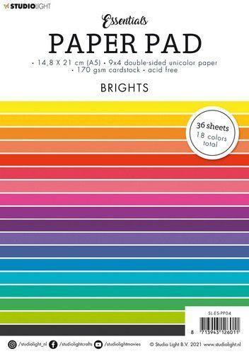Studio Light Paper pad Essentials Brights nr.4 SL-ES-PP04 A5 (05-21)