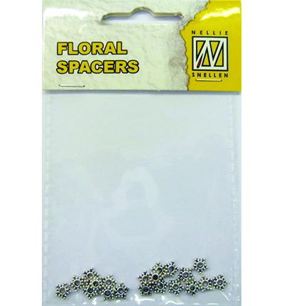 Floral Spacers -  silver  nr. 1