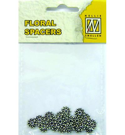 Floral Spacers -  silver  nr. 2