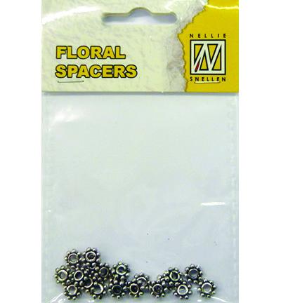 Floral Spacers -  silver  nr. 5