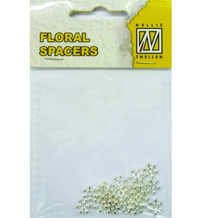 Floral Spacers -  silver  nr. 6