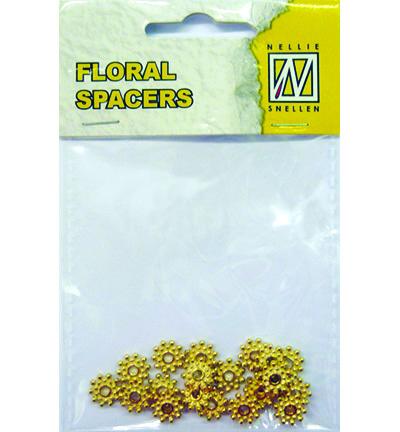 Floral Spacers -  gold  nr. 8
