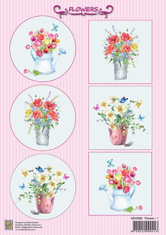 NEVI093 Decoupage sheet Flowers