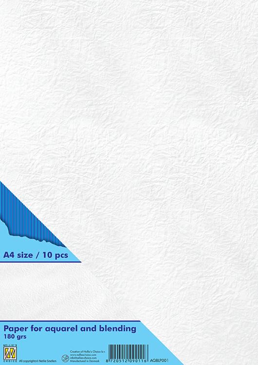 AQBLP001 Paper for aquarel & blending technique 180 grs A4 white