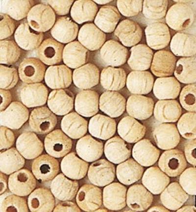 Wooden Beads Naturel, 4mm