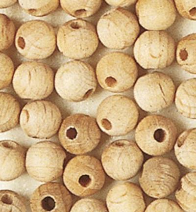 Wooden Beads Naturel, 6mm