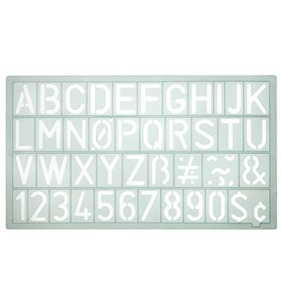 Sjabloon cijfers en letters, transparant sjabloon.