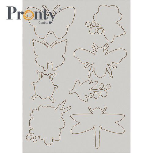 Pronty Grey Chipboard Insecten 492.001.015 (04-21)