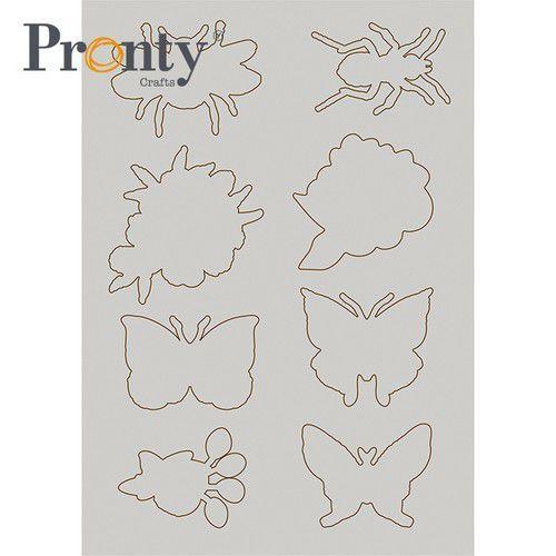 Pronty Grey Chipboard Insecten 1 492.001.016 (04-21)